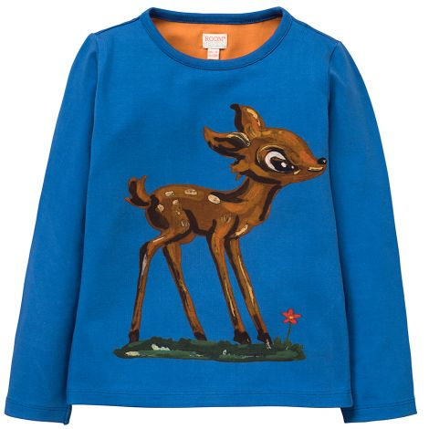 Room Seven Langarm-Shirt Tin Bambi Blue