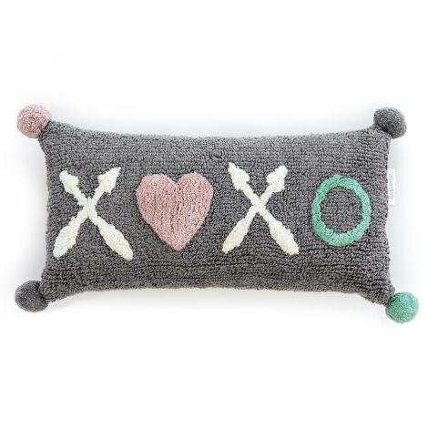 Minividuals Kissen XOXO Grau