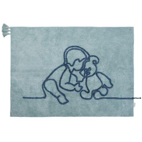 Minividuals Teppich Junge mit Teddy