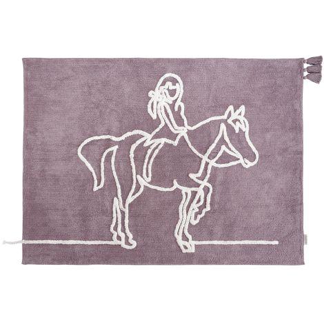 Minividuals Teppich Mädchen auf Pferd