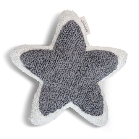 Minividuals Kissen Stern Grau