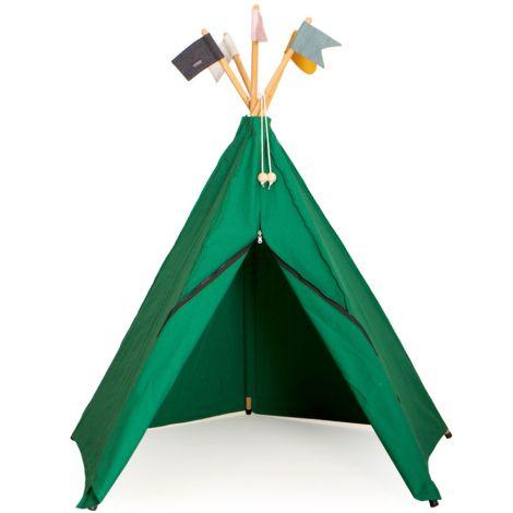 Roommate Spielzelt Hippie Tipi Green Bio-Baumwolle
