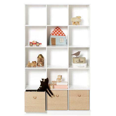 Oliver Furniture Wood Stand-Regal 3 x 5 Vertikal mit Sockel