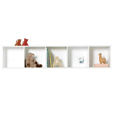 Oliver Furniture Wood Wand-Regal 5 x 1 Horizontal