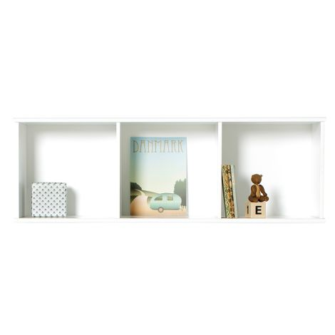 Oliver Furniture Wood Wand-Regal 3 x 1 Horizontal