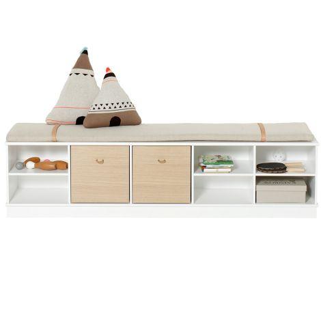 Oliver Furniture Wood Stand-Regal 5 x 1 Horizontal mit Sockel