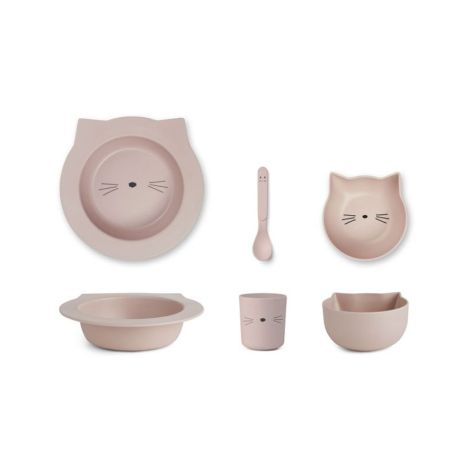 LIEWOOD Geschirr-Set Barbara Cat Rose 4-teilig