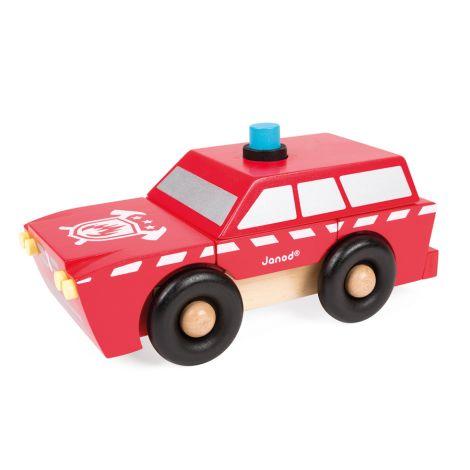 Janod Magnetischer Bausatz Feuerwehrwagen •