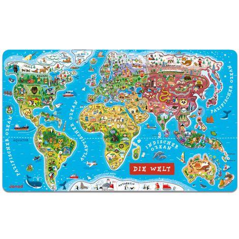 Janod Magnetische Landkarte Die Welt 92 Teile