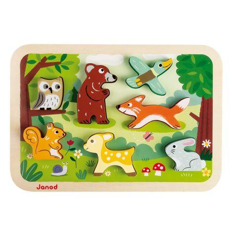 Janod Chunky Holzfiguren-Puzzle Wald