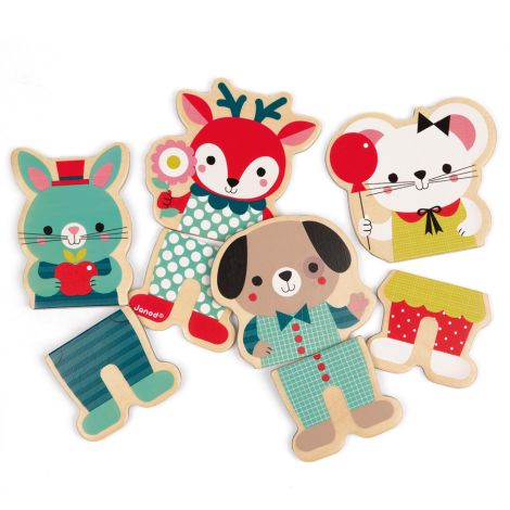 Janod Baby Forest Magnetset Tiere
