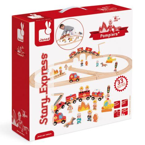 Janod Story-Express Bahn Feuerwehr