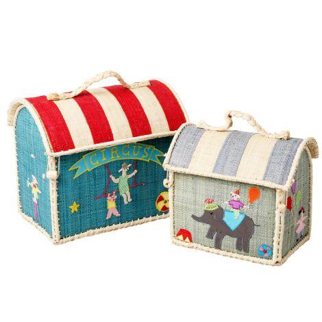 Rice Kleiner Spielzeugkorb/ Tasche Circus 2er-Set