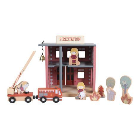 Little Dutch Holzeisenbahn Erweiterung Feuerwehrhaus