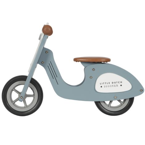 Little Dutch Holz Laufrad Roller Blau