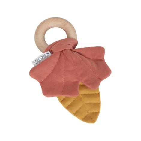 Little Dutch Knister-Spielzeug Blätter Gelb/Rosa