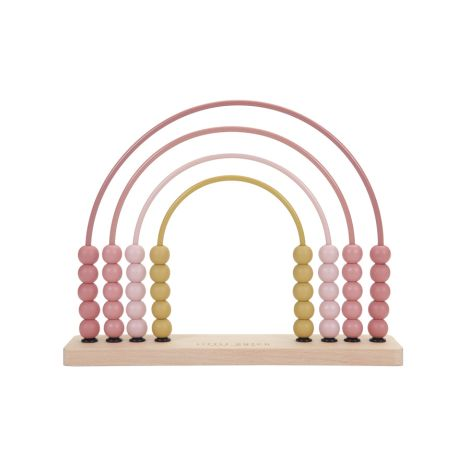 Little Dutch Regenbogen-Abacus Pink