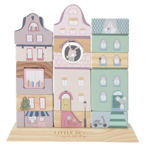 Little Dutch Stapelhaus-Bauklötze Adventure Pink