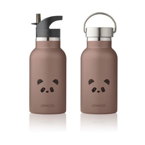 LIEWOOD Trinkflasche Anker Panda Dark Rose 2 Verschlüsse