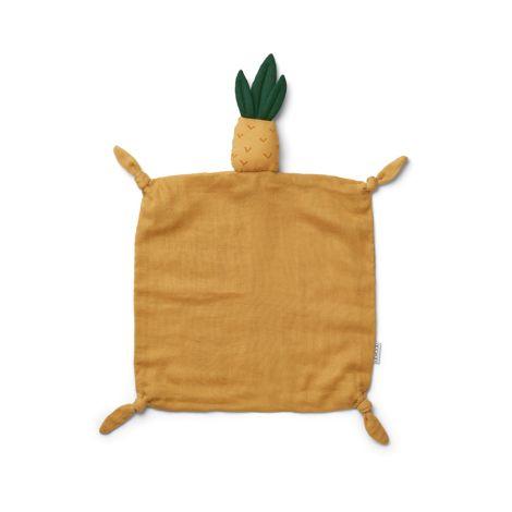 LIEWOOD Kuscheltuch Agnete Pineapple Yellow Mellow
