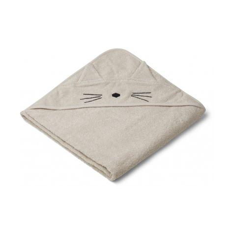 LIEWOOD Kapuzenhandtuch Augusta Cat Sandy