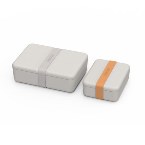 LIEWOOD Brotdose Lunchbox Bradley Dumbo Grey 2er-Set