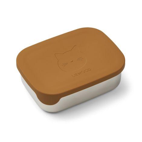 LIEWOOD Brotdose Lunchbox Arthur Cat Mustard