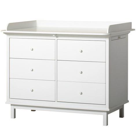 Oliver Furniture Seaside Wickelkommode 6 Schubladen Weiß