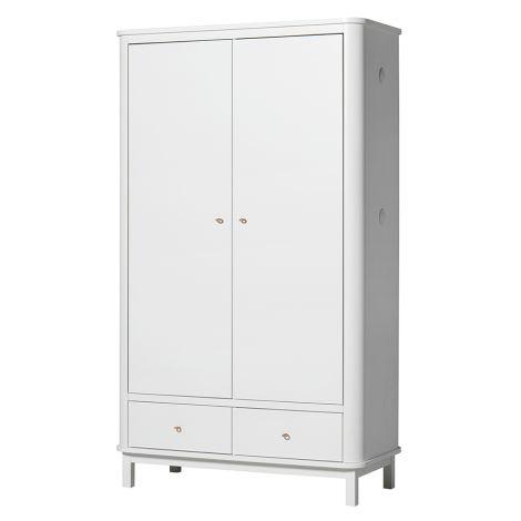 Oliver Furniture Wood Kleiderschrank 2-Türig Weiß