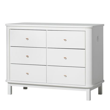 Oliver Furniture Wood Kommode 6 Schubladen Weiß