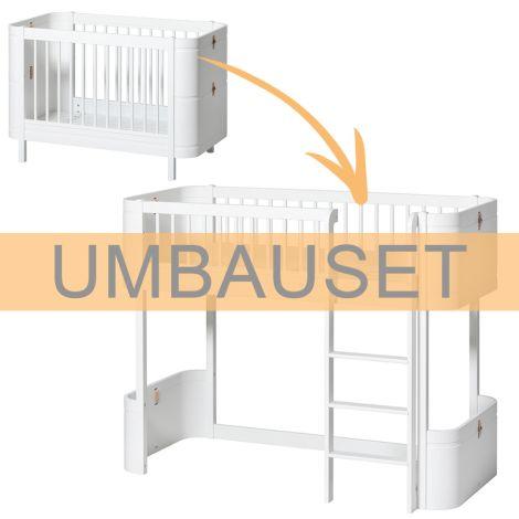 Oliver Furniture Umbauset für Baby- und Kinderbett Wood Mini+ zum halbhohen Hochbett Weiß