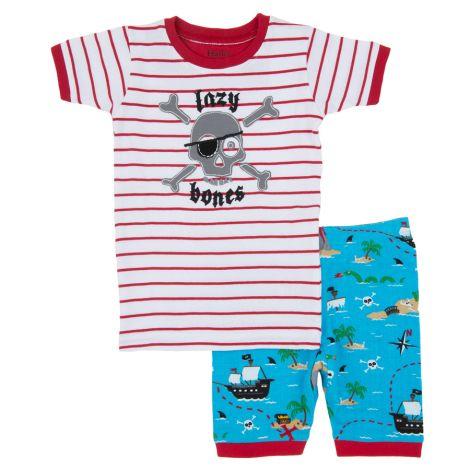 Hatley Kinder Schlafanzug-Set kurz Treasure Island Lazy Bones