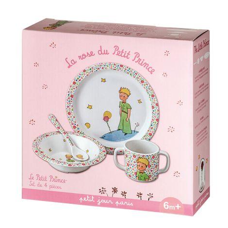 Petit Jour Paris Geschirr Geschenkbox Kleiner Prinz 4-teilig Rosa