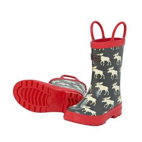Hatley Kinder Gummistiefel Navy Moose
