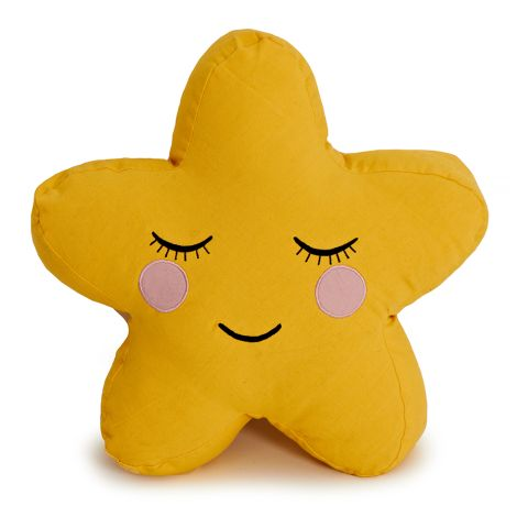 Roommate Kissen Star Yellow Bio-Baumwolle