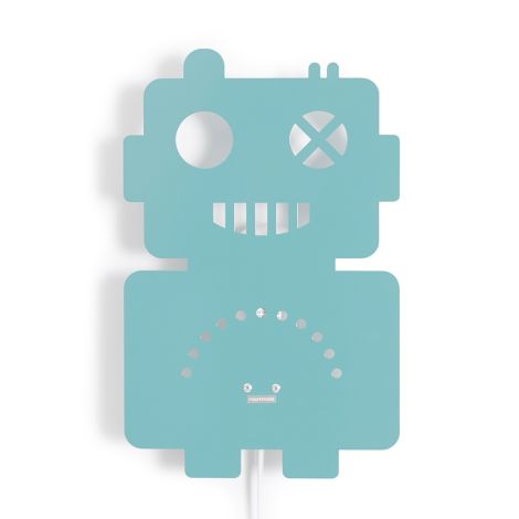 Roommate Lampe Roboter Pastel Blue
