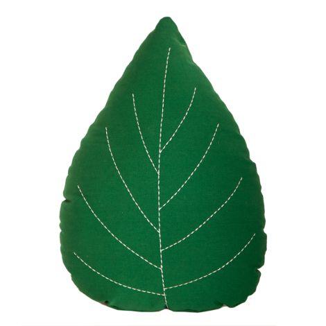 Roommate Kissen Leaf Green Bio-Baumwolle
