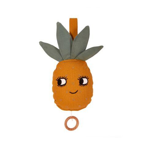 Roommate Spieluhr Pineapple Bio-Baumwolle