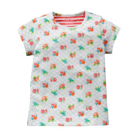 Room Seven T-Shirt Ti/Small Flower Pink/Weiß