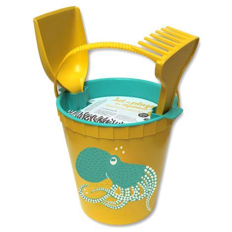 Coq en Pâte Strandspielzeug Oktopus Gelb