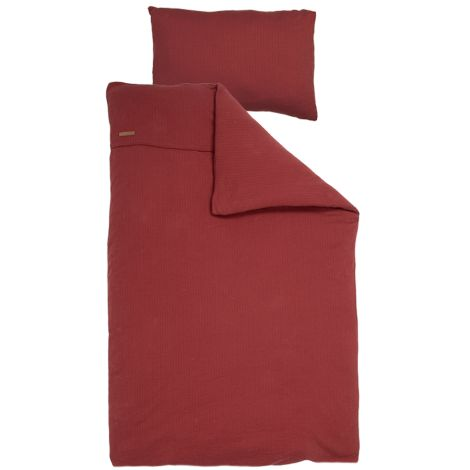 Little Dutch Bettbezug Pure Indian Red 100x140