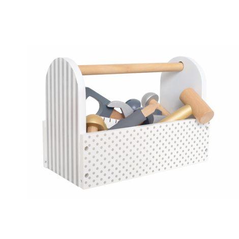 JaBaDaBaDo Werkzeugkiste Silber inkl. Werkzeug 22-teilig