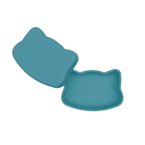 We Might Be Tiny Lunchbox Brotdose Snackies Katze dunkel Blau