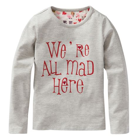 """Oilily Langarm-Shirt """"Tip"""" We are all mad here Grau"""