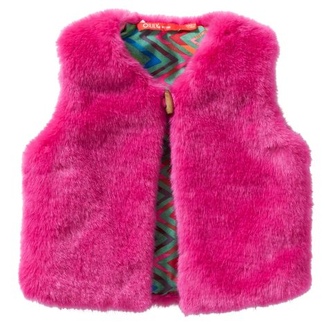 Oilily Weste Body Warmer Cafur Teddy Pink