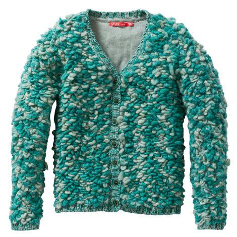 Oilily Cardigan Kurly Green Sheep Knit Green