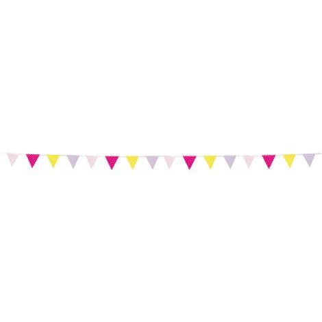 JaBaDaBaDo Mini-Wimpelkette Pink •