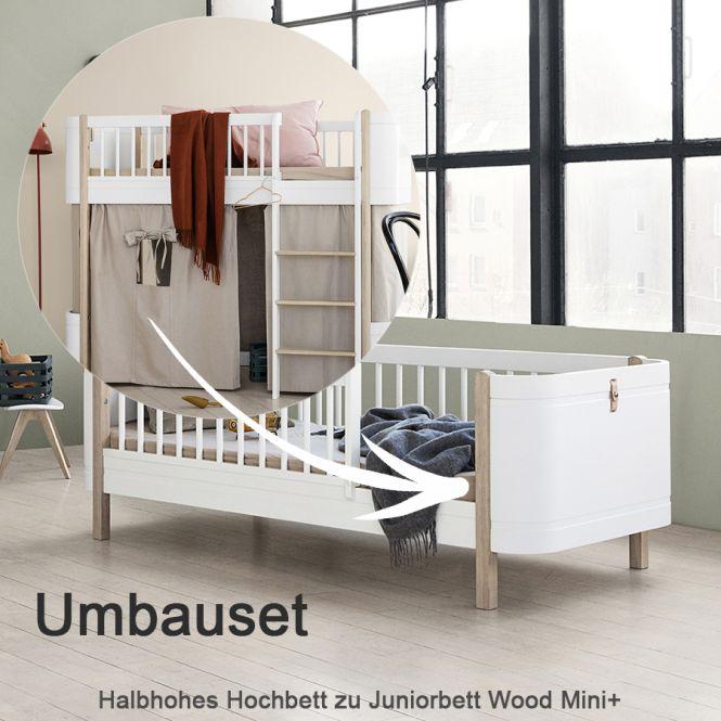 oliver furniture umbauset fr halbhohes hochbett wood mini zum juniorbett eiche - Oliver Furniture Hochbett
