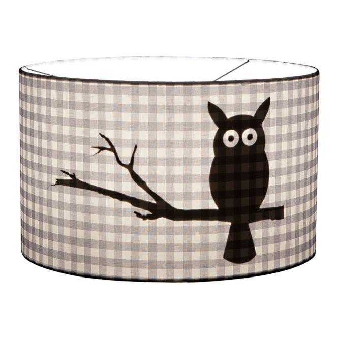 little dutch deckenlampe rund eule grau online kaufen emil paula kids. Black Bedroom Furniture Sets. Home Design Ideas