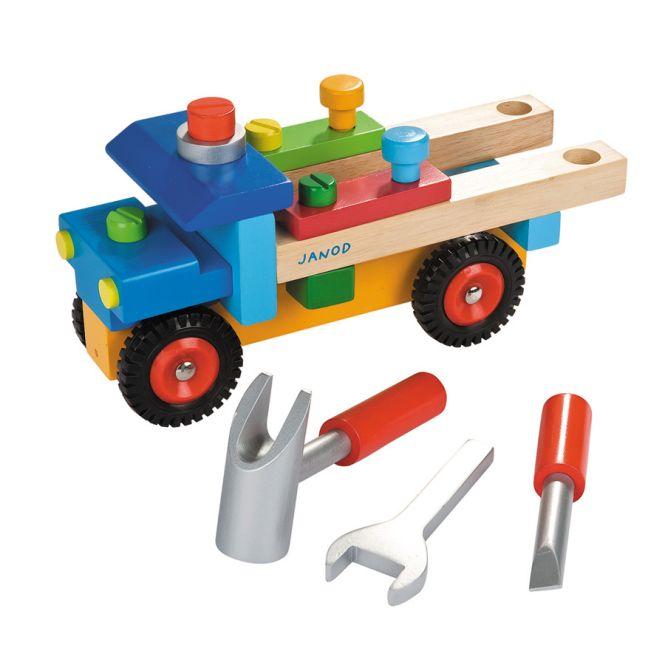 janod werkzeug lastwagen bunt online kaufen emil paula kids. Black Bedroom Furniture Sets. Home Design Ideas
